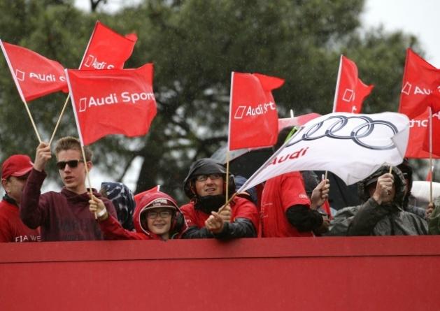 Fans de Audi en las 24h Le Mans.
