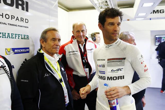 Jacky Ickx, Hans-Joachim Stuck y Mark Webber (Porsche #1).