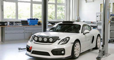 Porsche Cayman GT4 Clubsport, auto de apoyo en Rally de Alemania