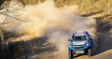Sebastián Guayasamín imparable en rally argentino Desafío Ruta 40