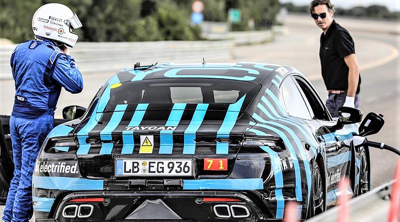 Porsche Taycan completa larga prueba de resistencia en Nardò