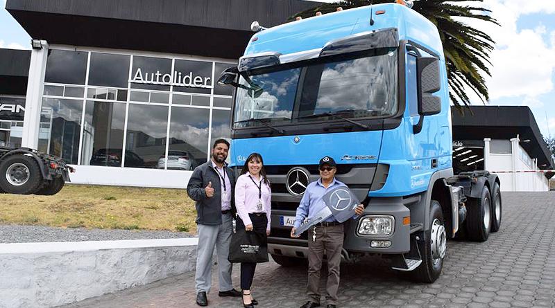Mercedes-Benz entrega camión Actros a Megamovil Cía. Ltda.