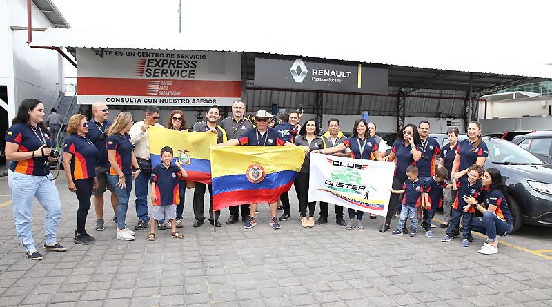 """Miembros del """"Club Duster Pasión Colombia"""" visitaron Guayaquil"""