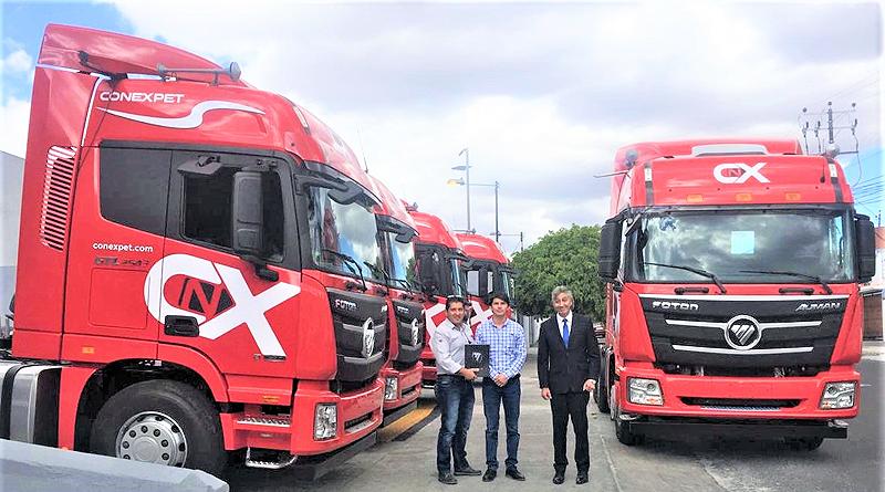 Conexpet adquirió flota de camiones Foton para transporte de carga