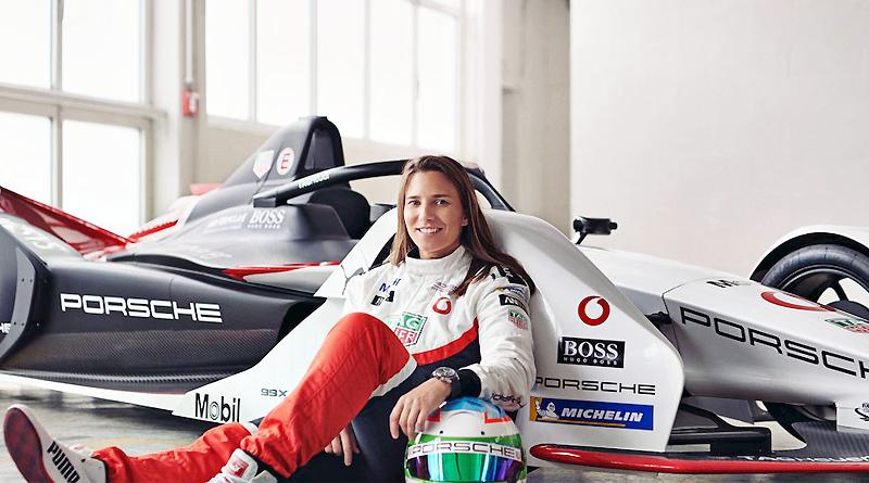 Simona De Silvestro y Thomas Preining con Porsche en la Fórmula E