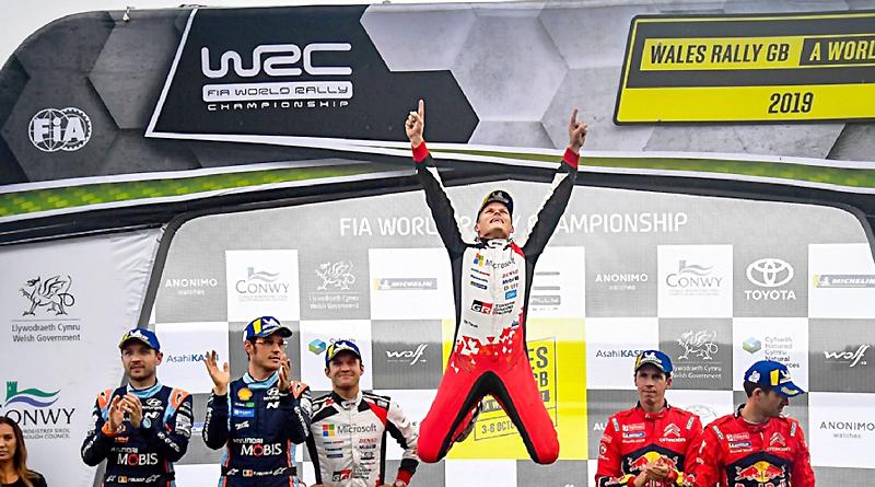 WRC: Ott Tänak gana en Gales y se acerca más al título 2019