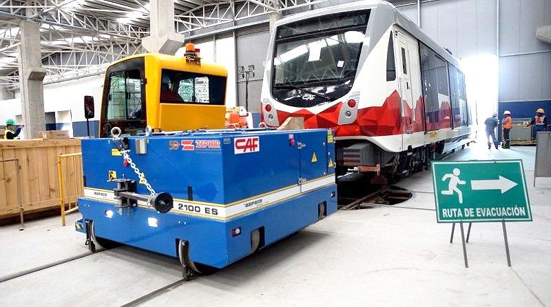 Llegó a Quito el decimoquinto tren del Metro