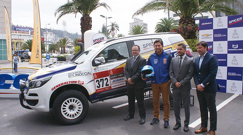 Sebastián Guayasamín y Chevrolet enfrentarán un nuevo Rally Dakar
