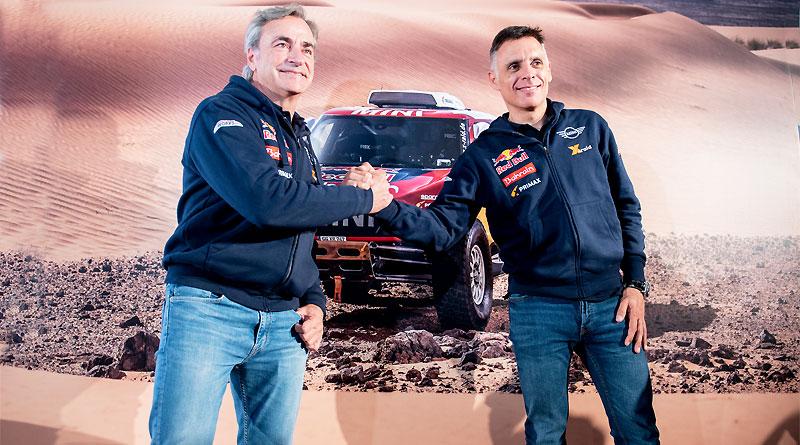 Carlos Sainz y Lucas Cruz, ganadores del Dakar 2020 con MINI