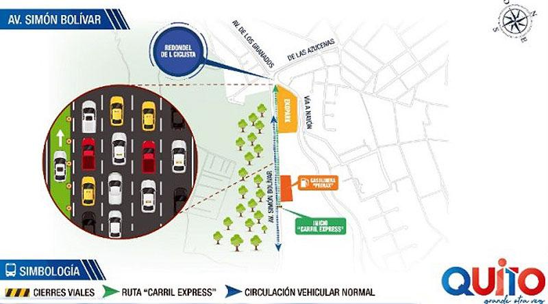 "Plan piloto de Carril Express para ""Autos Compartidos"" en Quito"