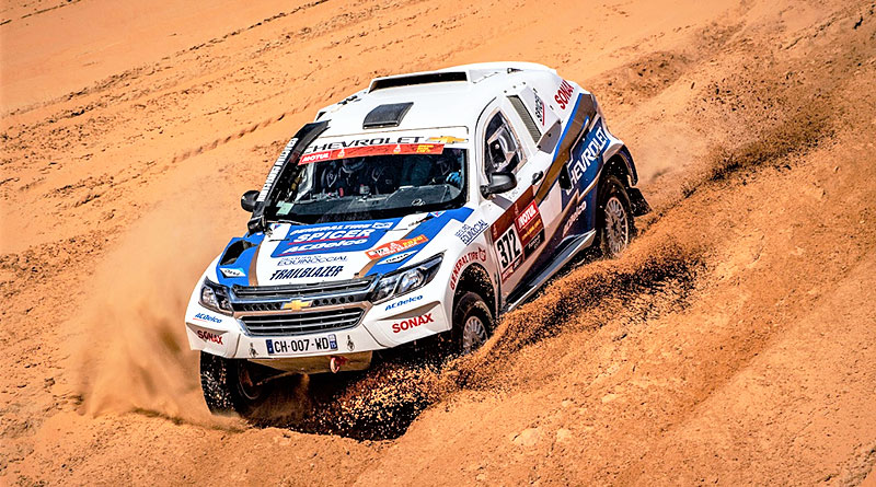 La Chevrolet Trailblazer cumple la penúltima etapa del Rally Dakar