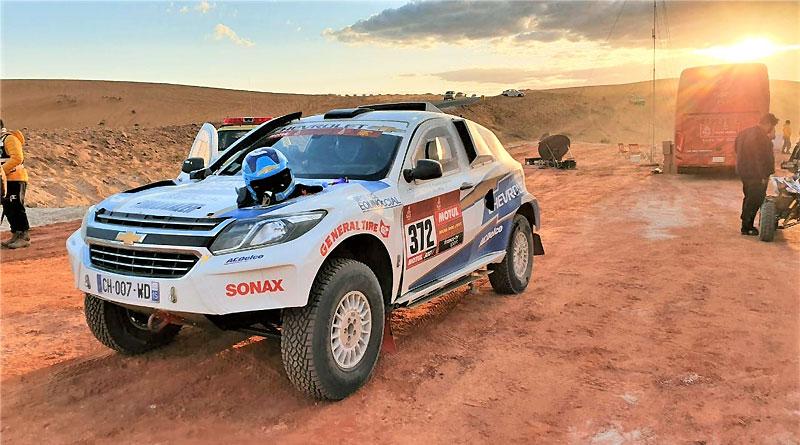 Otra etapa redonda para Sebastián Guayasamín en el Dakar 2020