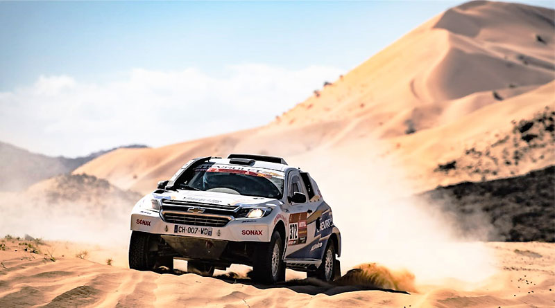 Sebastián Guayasamín concluye 51 en la primera etapa del Dakar 2020