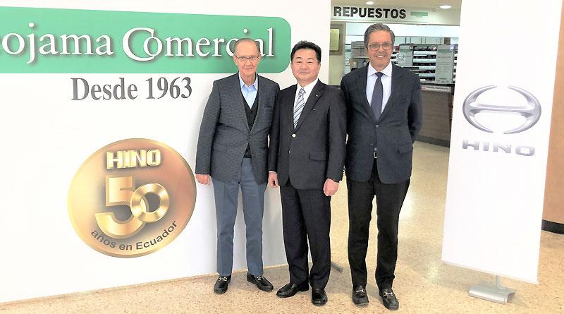 Teojama cumple 50 años de relación comercial con Hino Motors