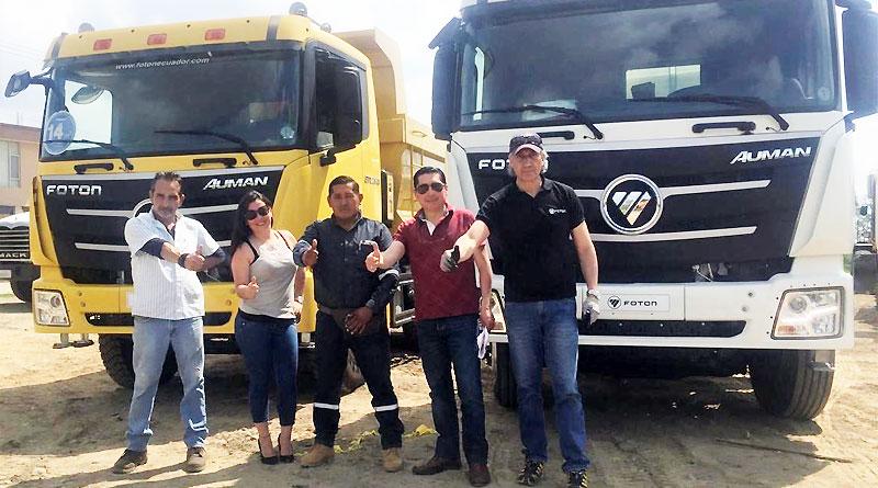 Foton entrega volquetas y camiones pesados en Santo Domingo