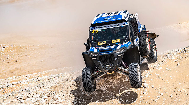 Guayasamín completó 1ra etapa del Manateq Qatar Cross-Country Rally