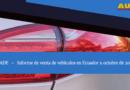 AEADE: Las ventas de vehículos en Ecuador a octubre de 2020