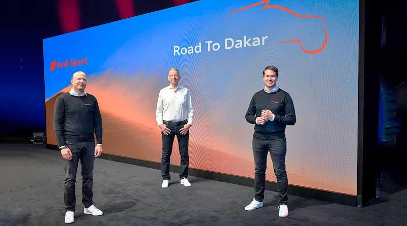 Audi electrifica el desierto de camino al Dakar 2022