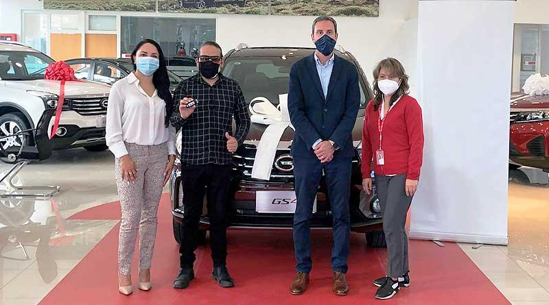 C.C.I. entregó un SUV GS4 0 km de GAC Motor a ganador de sorteo