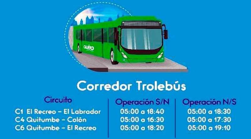 Toque de queda: Horarios de Trolebús y Ecovía, del 5 al 9 de abril