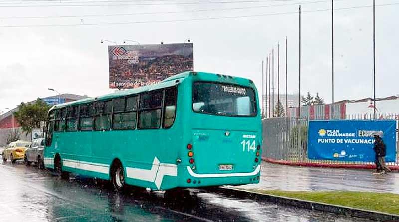 Municipio activó transporte gratuito para facilitarvacunaciones en Quito