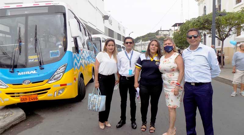 Buses Hyundai para 'Ruta Express' de los cerros Santa Ana y El Carmen