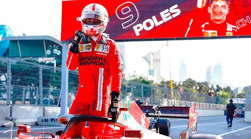 Leclerc hace la Pole en una caótica clasificación del GP de Azerbaiyán