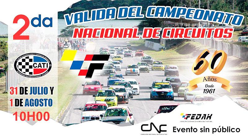 2da. Válida del Campeonato Nacional de Circuitos 2021 este finde