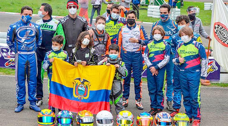 Siete podios de Ecuador en Panamerican Rok Cup Colombia 2021
