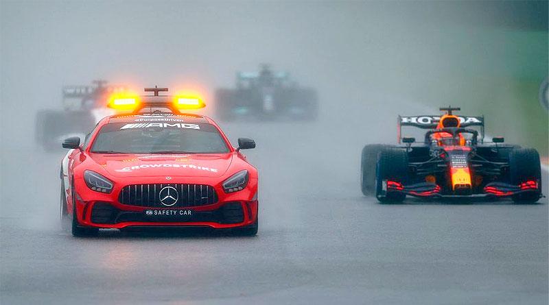 Max Verstappen gana el GP más corto de la historia de la Fórmula 1