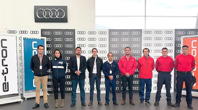 Audi en Ecuador capacita a varios equipos de rescate