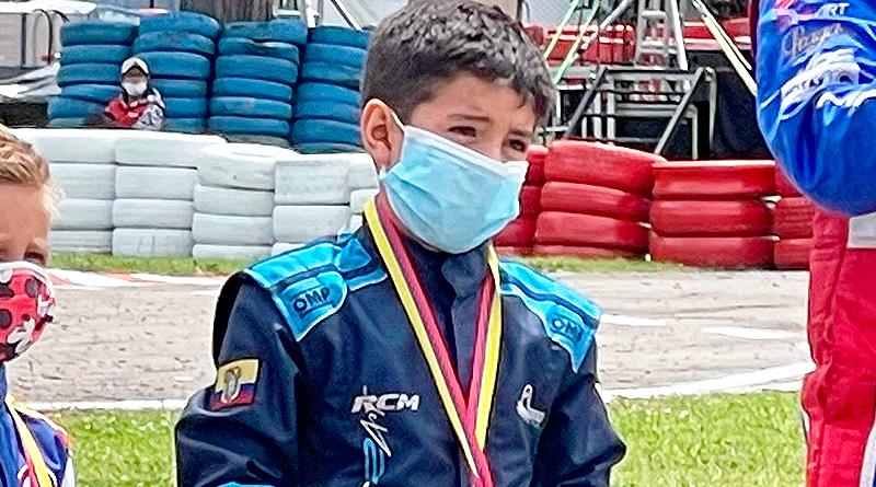 Julián Rivera quedó a un paso del podio en Sudamericano Rotax